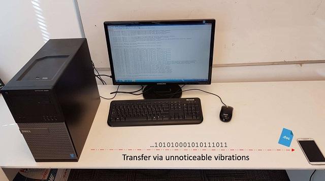 以色列研究人员演示如何通过风扇震动和智能手机窃取PC数据