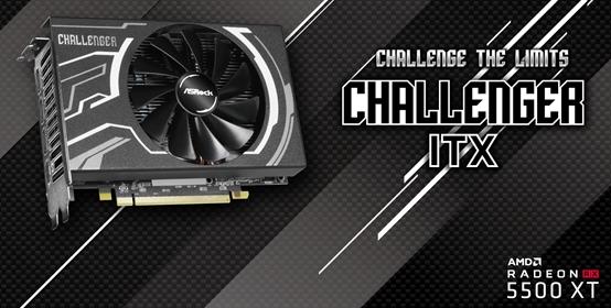 AMD 7nm的第一次!华擎发布ITX刀卡版RX 5500 XT