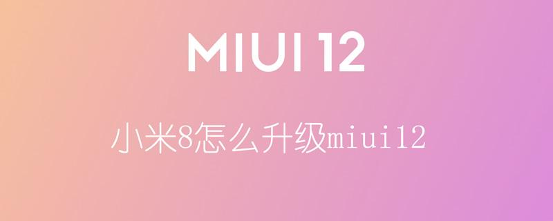 小米8怎么升级miui12
