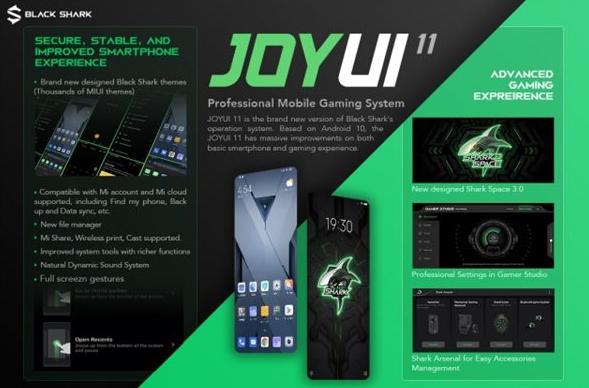 黑鲨游戏手机2海外版获JoyUI 11更新,黑鲨2 Pro紧跟其后