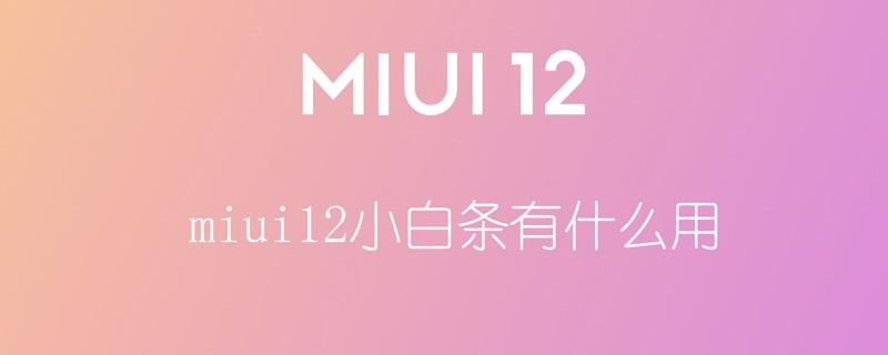 miui12小白条有什么用