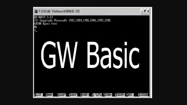 微软开源早期编程语言 GW-BASIC