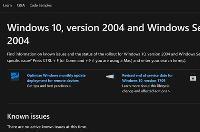 Windows 10版本2004上线  支持文档页面  驱动程序更新