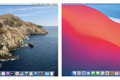 设计师带来macOS Catalina和Big Sur的视觉界面对比