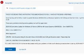 本月Windows 10累积更新再出BUG,安装时跳出错误代码