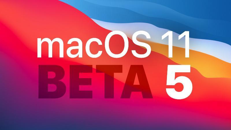 macOS Big Sur Beta 5发布:不支持2020款27英寸iMac
