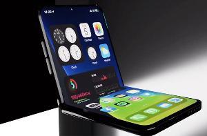 苹果可折叠iPhone原型机曝光:有双屏幕 类似Surface Duo