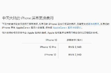 2149元!iPhone 12屏幕更换价格公布,网友:碎不起