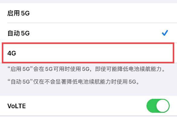 苹果12怎么切换4g网络