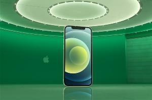 iPhone12系列手机屏幕测试:APP下方绿色亮度偏高