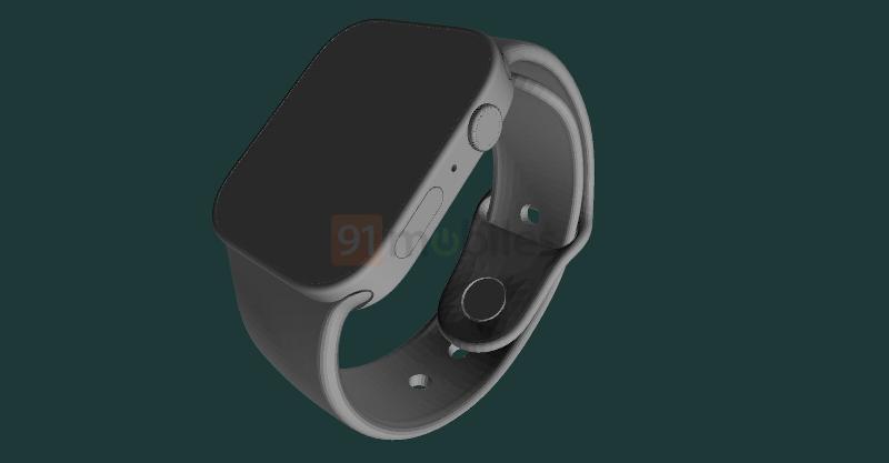 Apple Watch Series 7 CAD渲染图爆料,屏幕更大,扬声器也更突出