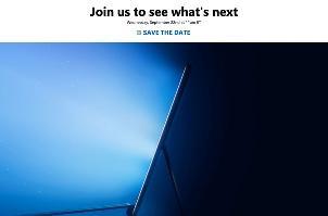 微软发邀请函,秋季发布会将于9月22日召开