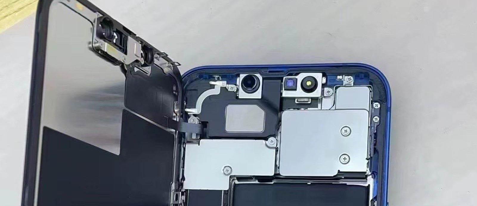 iPhone 13拆机照首度亮相:Taptic Engine变小了,电池变大了