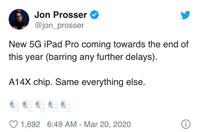Mini-LED版12.9英寸iPad Pro或2021年初发布  搭载A14X处理器