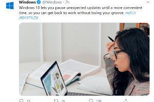微软:Windows 10会为用户提供暂停意外更新的选择