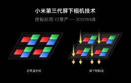 小米公布第三代屏下相机技术:手机明年正式量产