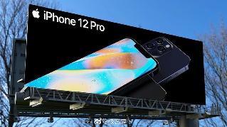 曝iPhone 12 Pro现身高速路广告牌 &quot刘海&quot依旧大