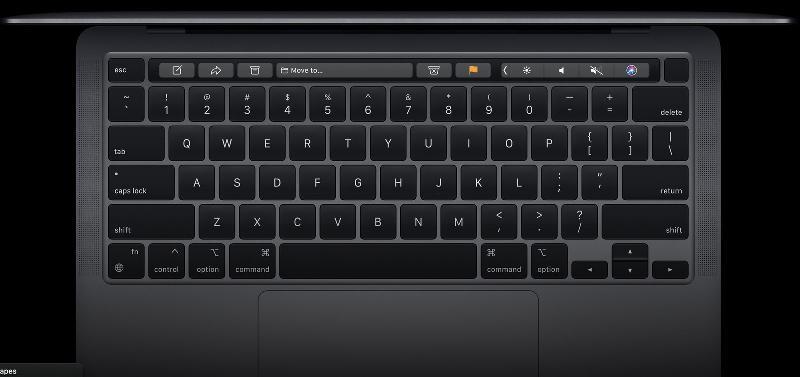 苹果新专利显示:未来MacBook将配显示屏键盘 动态改变按键标签