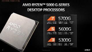 AMD发布锐龙5000G系列桌面APU 将通过OEM渠道推出