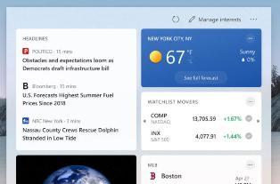 Windows 10 21H1 首个功能更新 KB5003214 推出:带来新闻和兴趣功能