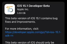 继正式版发布后,苹果又火速发布 iOS 15 测试版