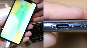 一款iPhone接口被改成USB-C接口,并可以正常使用