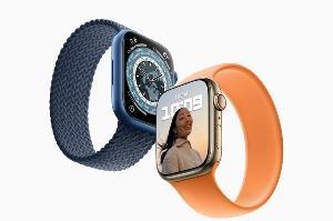 Apple Watch Series 7 手表配备USB-C接口,采用铝金属磁力快充